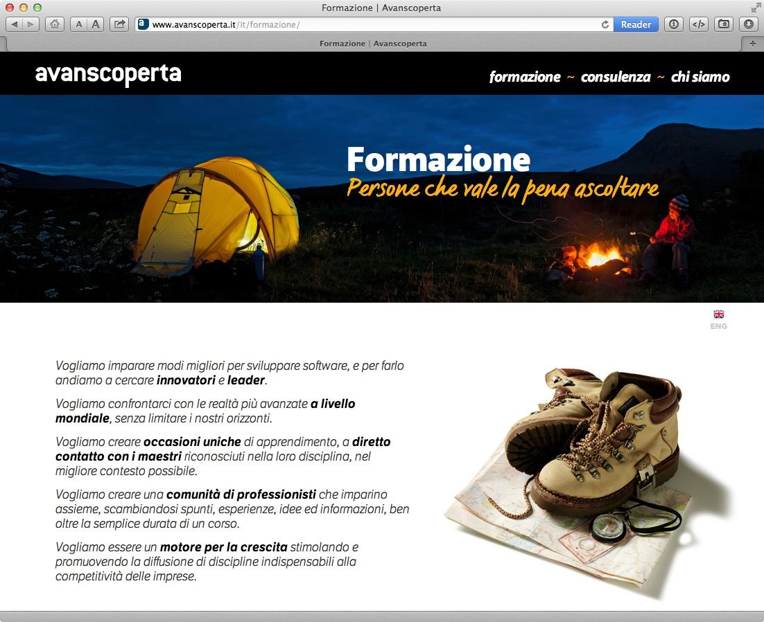 Una sottopagina del sito Avanscopetta