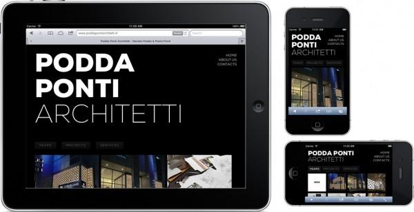 Il sito Poddaponti in versione mobile/responsive/adaptive