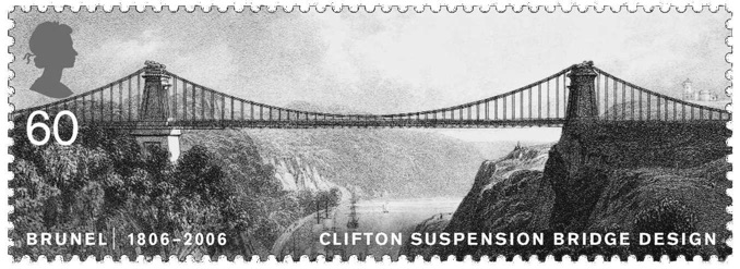 The Clifton Bridge in a post stamp