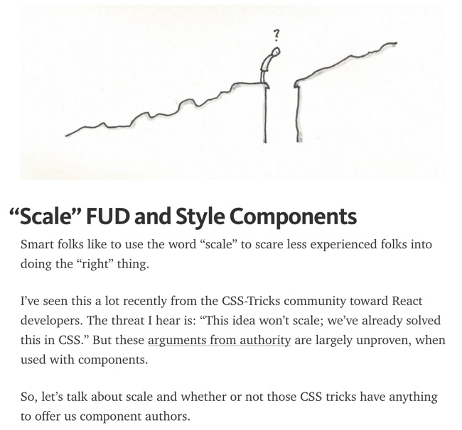 """Scale"" FUD and Style Components - Michael Chan"