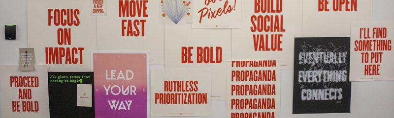 Be Bold - Facebook propaganda posters