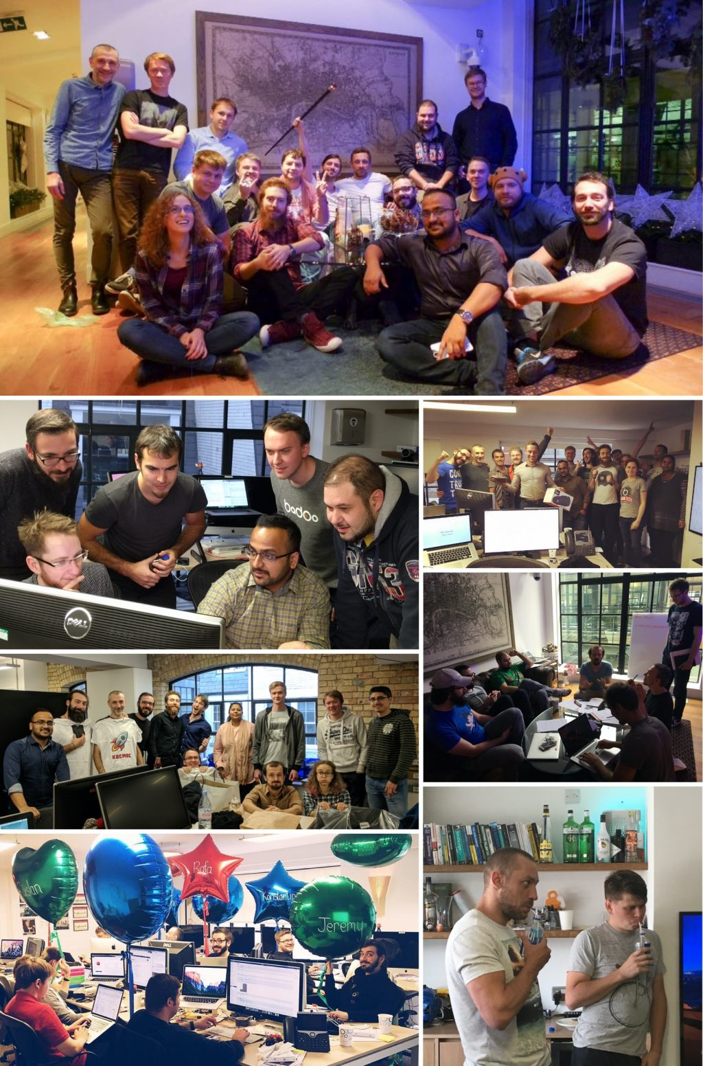A collage of photos of the Mobile Web team